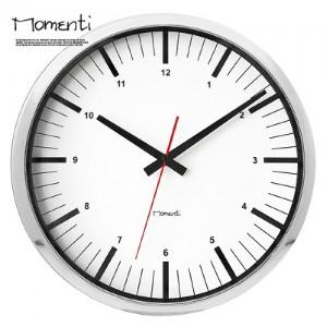 [포커시스][Momenti] 모멘티 크롬라인 벽시계 MMT-109-3_CHR