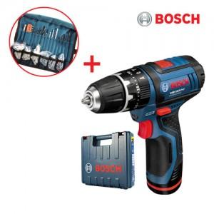 [보쉬]10.8V리튬이온 충전임팩드릴 GSB 10.8-2 LI(1B)액세사리100pcs포함/2단기어