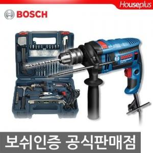 [보쉬]신형 750W전동드릴공구세트GSB1600RE DIY KIT(100pcs 수공구,액세사리포함)/콘크리트OK