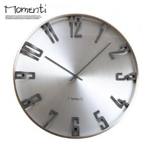 [포커시스][Momenti] 모멘티 아이언 T800 벽시계 뉴실버 MMT-CMW171_SV