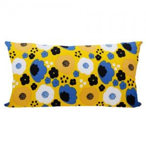 [Oi] 꽃 패턴 등쿠션 카이옐로우 (kai yellow/등쿠션)