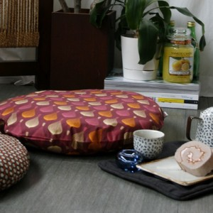 [Oi] 핑크 풍선 패턴 좌식쿠션 핑크벌룬 (pink ballon sitting cushion)
