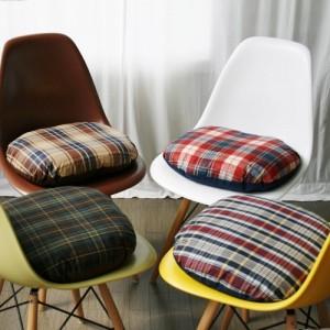 [Oi] 체크 패턴 좌식쿠션 체크 (check sitting cushion)