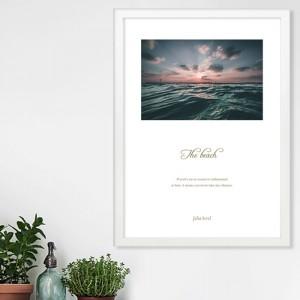 [시즈팝]FA229 일출의 해변 북유럽 스타일 포토프레임