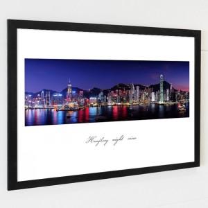 [시즈팝]FA241 환상적인 홍콩 야경  북유럽스타일 포토프레임