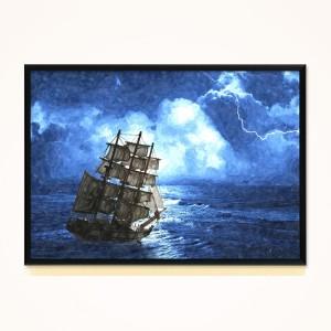 [시즈팝]FA267 폭풍 속의 선박 북유럽 스타일 포토프레임
