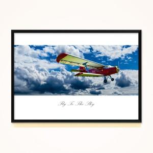 [시즈팝]FA272 비행기 플라이 투 더 스카이 - 와이드  북유럽 스타일 포토프레임