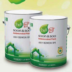 [더페인트샵] 노루페인트 순앤수 친환경 곰팡이방지 항균페인트  4L /18L (백색/WHITE)