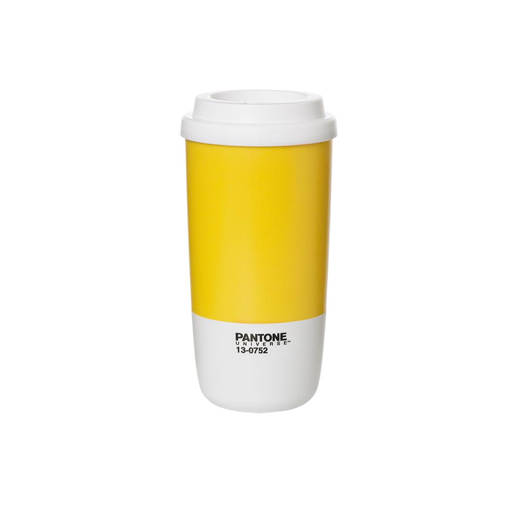 팬톤 보온보냉텀블러400ml(레몬)