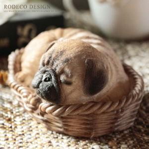 [로데코] 미니어쳐 잠자는 강아지(퍼그)