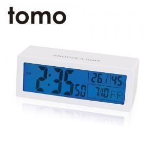 [포커시스][Tomo] 토모 스퀘어 디지털 탁상 알람시계 화이트 TOMO-YNST021-WH