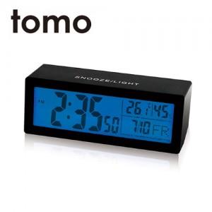 [포커시스][Tomo] 토모 스퀘어 디지털 탁상 알람시계 블랙 TOMO-YNST021-BK