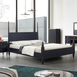올리비아 침대프레임 (퀸침대) - 네이비