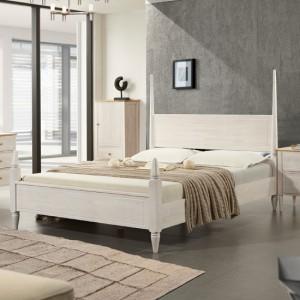 올리비아 침대프레임 (퀸침대) -화이트워시