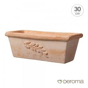 [데로마 Deroma] 테라코타 이태리토분 까세타 올리브 베란다발코니화분(30cm)