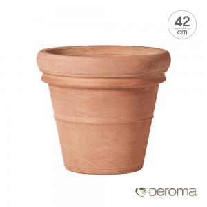 [데로마 Deroma] 테라코타 이태리토분 인테리어화분 바소 도피오 보르도(42cm)