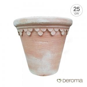 [데로마 Deroma] 테라코타 이태리토분 인테리어화분 바소 로얄(25cm)