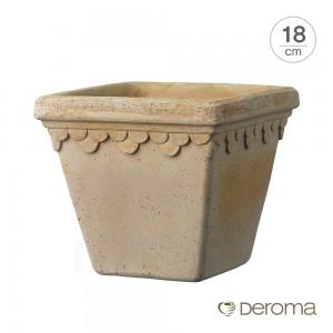 [데로마 Deroma] 테라코타 이태리토분 인테리어화분 콰드로 로얄(18cm)