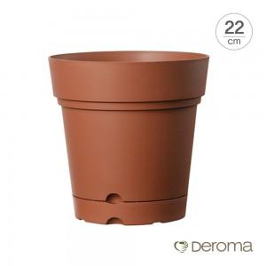 [데로마 Deroma] 플라스틱 인테리어화분 바소 삼바 위즈-화분받침대포함(22cm)