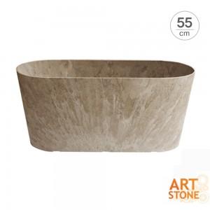 [아트스톤 Artstone] 렉탱글 클레어 인테리어 원형대형화분(55cm)