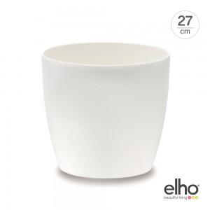 [엘호 elho] 브뤼셀 다이아몬드 라운드 분갈이겸용 화분(27cm)