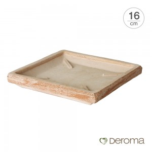 [데로마 Deroma] 테라코타 이태리토분 화분받침대 소토바소 콰드로(16cm)