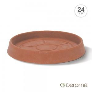[데로마 Deroma] 인테리어 플라스틱 화분받침대 라운드 소서(24cm)