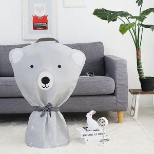 선풍기커버 패브릭 지퍼형 북극곰