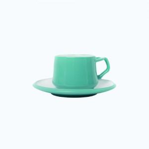 [덴스크] 커피 티잔&소서 민트