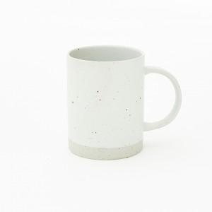 산도 화이트 머그  도자기 컵