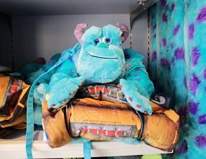 [가방+담요세트]디즈니랜드 몬스터주식회사 설리번 무릎 담요 가방