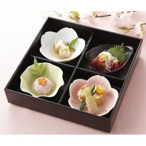 [Minoyaki Kaden] 쇼카도 꽃 4칸 도시락 세트 미노야키 카덴 546 00 044
