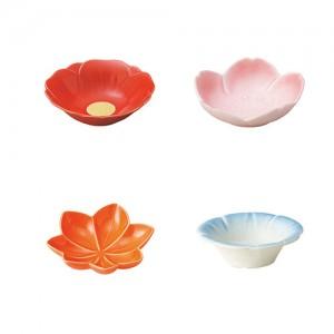 [Minoyaki Kaden] 사쿠라나가시 11cm 소형 꽃 접시 4종 택1 미노야키 카덴 563 45 021