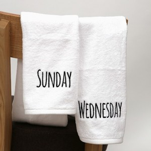 요일타올(150g) - day of the week towel 1P