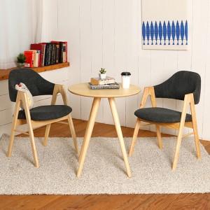스칸디안 인테리어 카페 티테이블 세트-다크블루 (의자 2개 포함)