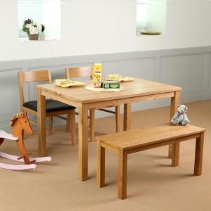 베이직 오크원목 4인용 1200 식탁테이블