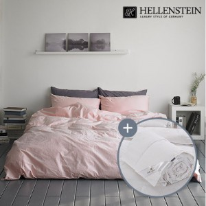 [헬렌스타인]브리즈 워싱 양면 사계절 덕다운 침구세트 퀸(500g+침구)