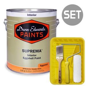 던에드워드 슈프리마 계란광 실내용 벽/벽지(Eggshell) 4L + 페인팅 도구세트 7인치