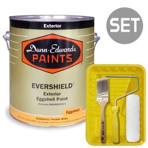 에버쉴드 계란광 실외용 울트라 프리미엄 4L  + 페인팅 도구세트 7인치