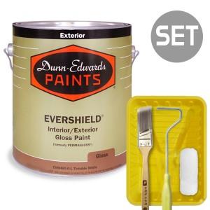 에버쉴드 고광 실외용 울트라 프리미엄 1L + 페인팅 도구세트 4인치