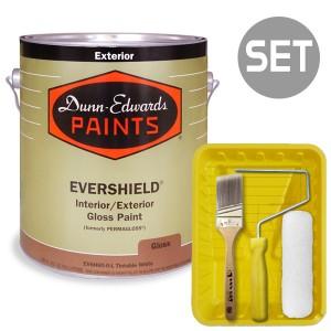 에버쉴드 고광 실외용 울트라 프리미엄 4L + 페인팅 도구세트 7인치