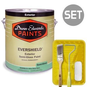 에버쉴드 반광 실외용 울트라 프리미엄 1L + 페인팅 도구세트 4인치