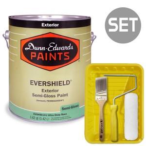 에버쉴드 반광 실외용 울트라 프리미엄 4L + 페인팅 도구세트 7인치