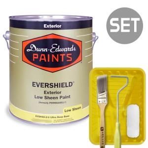 에버쉴드 저광 실외용 울트라 프리미엄 1L + 페인팅 도구세트 4인치
