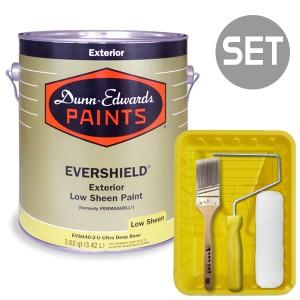 에버쉴드 저광 실외용 울트라 프리미엄 4L + 페인팅 도구세트 7인치