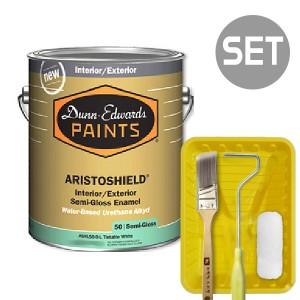 아리스토쉴드 철제&금속용 반광 1L + 페인팅 도구세트 4인치