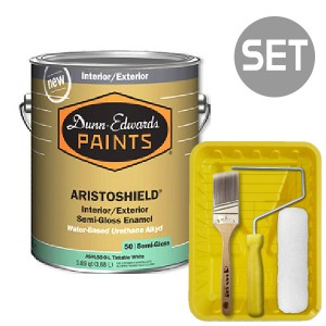 아리스토쉴드 철제&금속용 반광 4L + 페인팅 도구세트 7인치