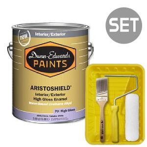 아리스토쉴드 철제&금속용 고광 4L + 페인팅 도구세트 7인치