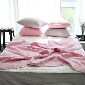 [래리티샵] 피그먼트 와플이불 핑크