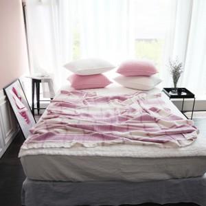 [래리티샵] 와플체크 모달이불 핑크